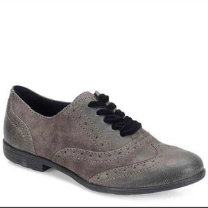 Born Kika Charcoal Distressed Oxfords